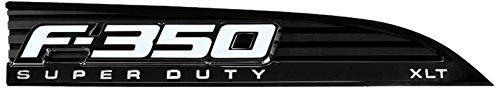 11-14 Ford F350 Illuminated Emblems 2-Piece Kit Includes Driver & Passenger Side Fender Emblems in Black - F350 in WHITE...