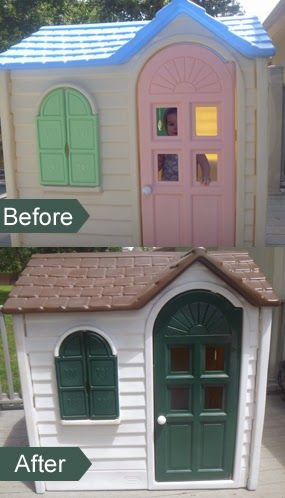 Painting a Little Tykes playhouse