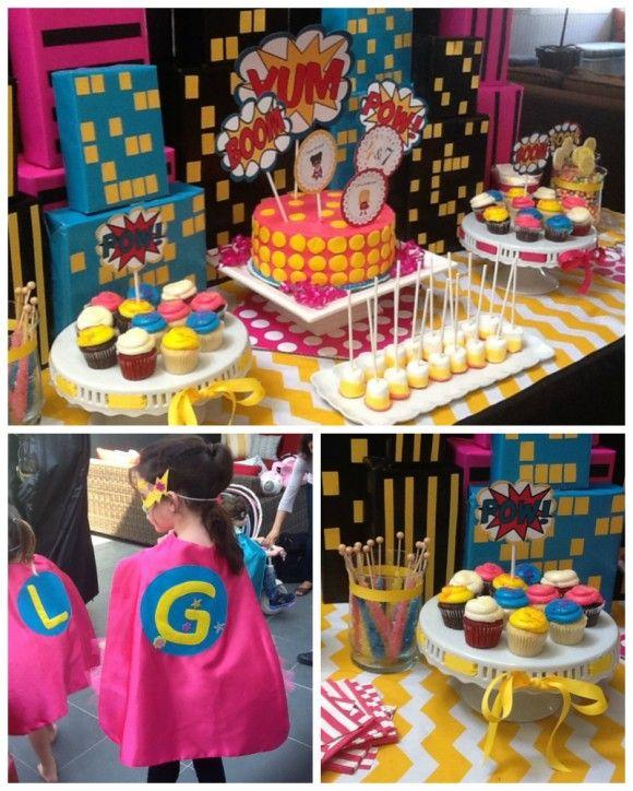 7 tips to throwing an awesome girl superhero party! #girlsuperhero #birthday #catchmyparty