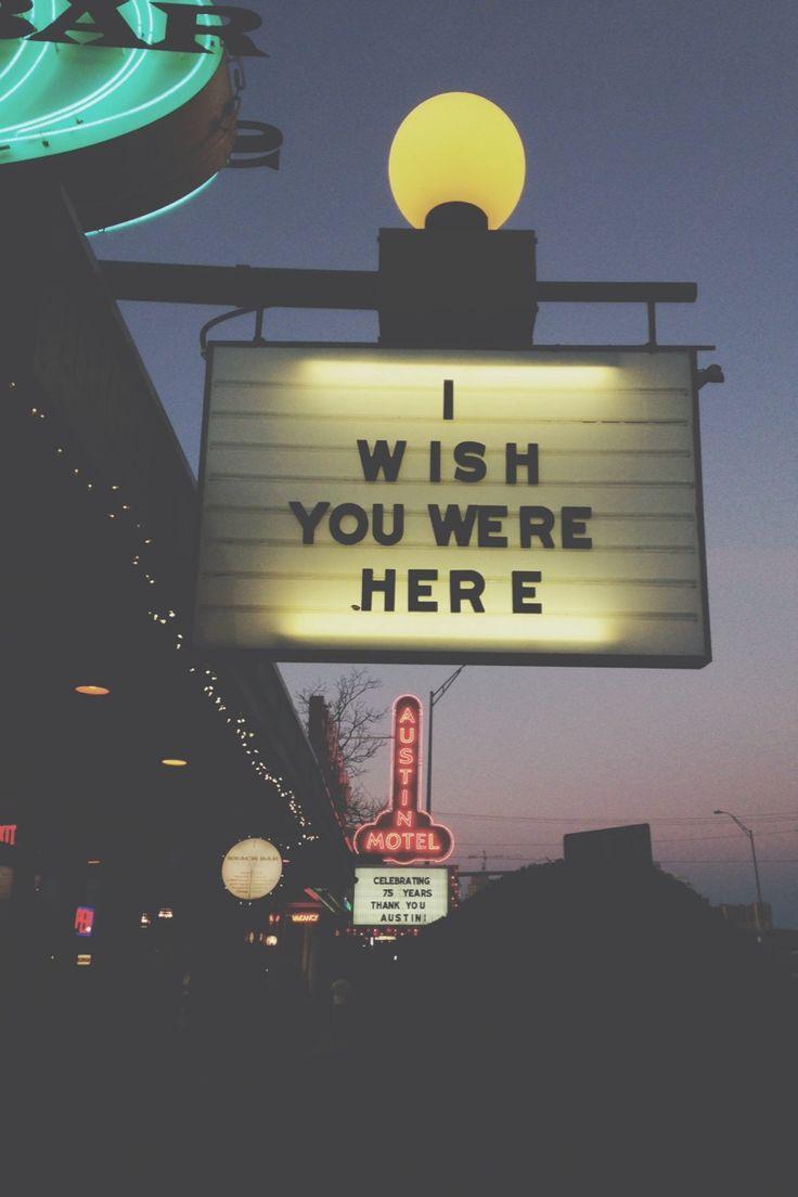 Me gustaria  que estuvieras aquí!!