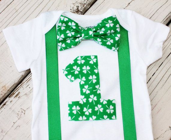 St. Patrick's Day First Birthday Outfit by CrestlineCreatives, $19.99