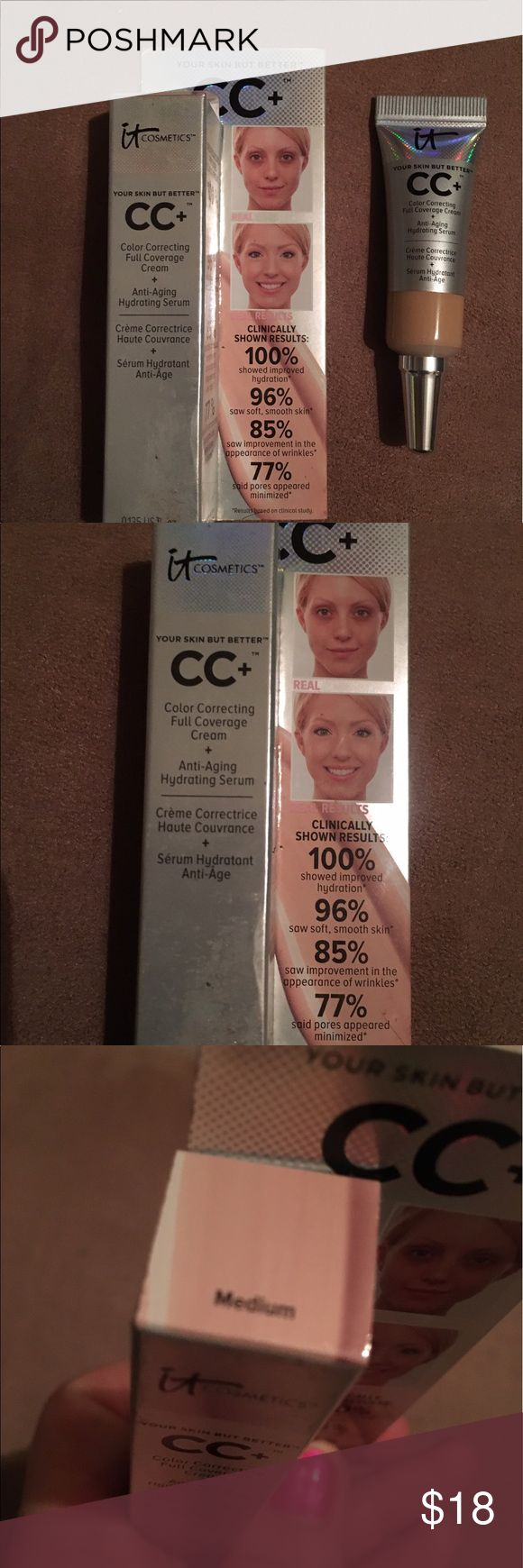 It cosmetics concealer brand-new color medium It cosmetics color correcting full coverage cream plus anti-aging hydrating serum. Brand-new color medium never been used still comes in box will ship next day it cosmetics Makeup Concealer