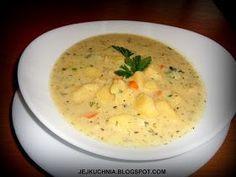 jejkuchnia, gęsta zupa kalafiorowo-serowa, zupa serowa, kalafior, zupy z serkiem topionym, kalafior z curry, tani obiad