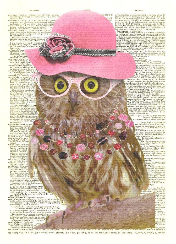 Pin By Cheryl S Smith On Owl Owl Art Dictionary Art Dictionary Art Print