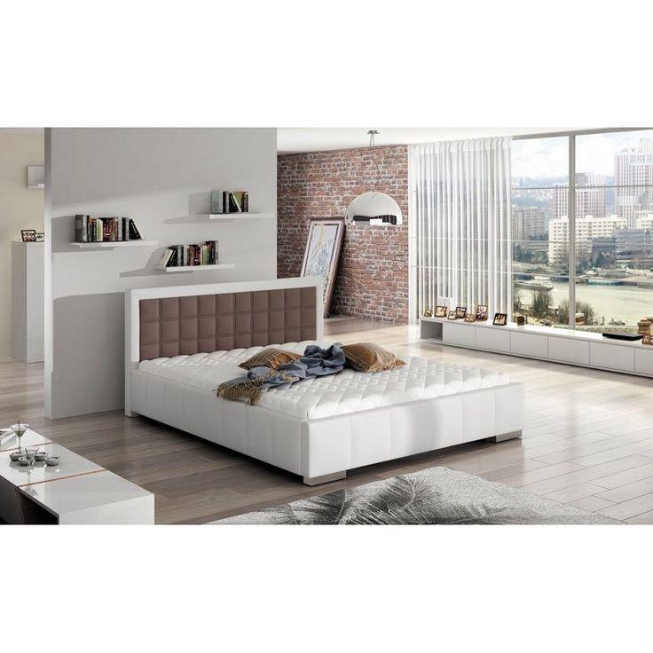 Nowoczesne łóżko z pojemnikiem Forte