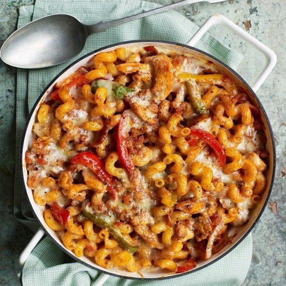 Chicken fajitas are a family favourite, but why not enjoy the flavours in an easy pasta bake!