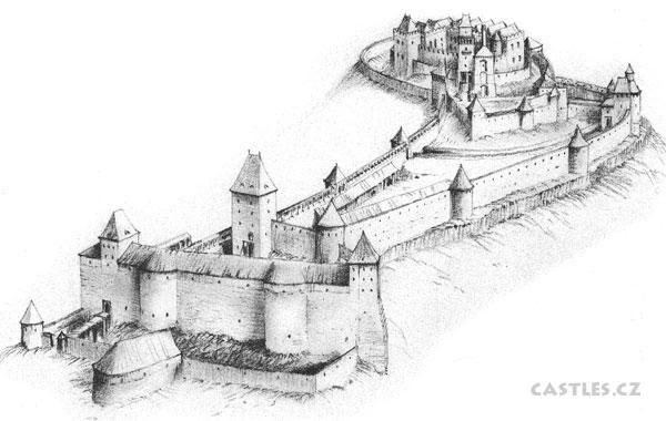 Helfstejn reconstruction, illustration of final appearance