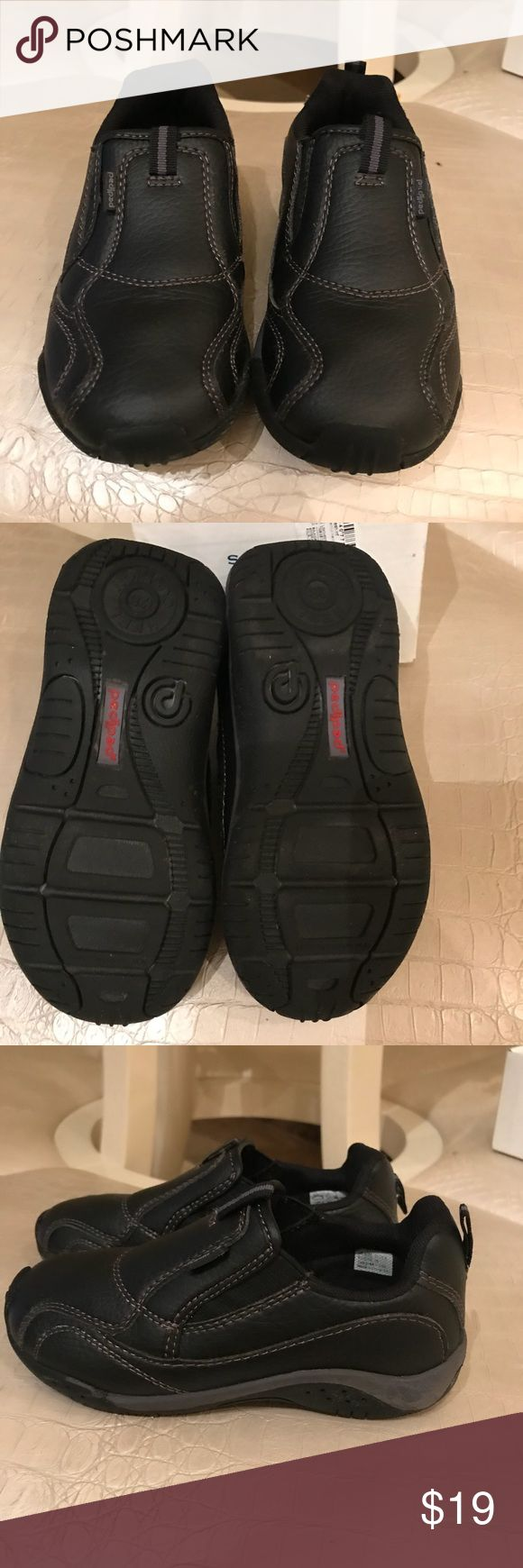 NWOT toddler boys shoe Black leather dress/semi casual but very comfortable shoe with flexible soft sole. This brand is known for comfort and quality. pediped Shoes Dress Shoes
