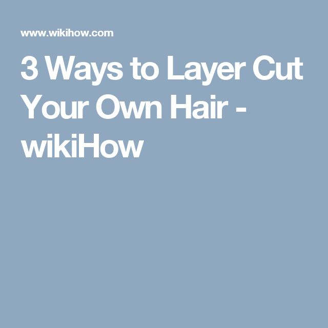 how to layer cut your own hair video