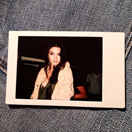 Polaroid of Kendall Jenner