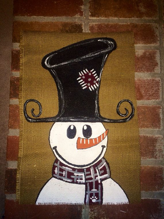 17 best images about frosty the snowman plush on pinterest for Snowman made out of burlap