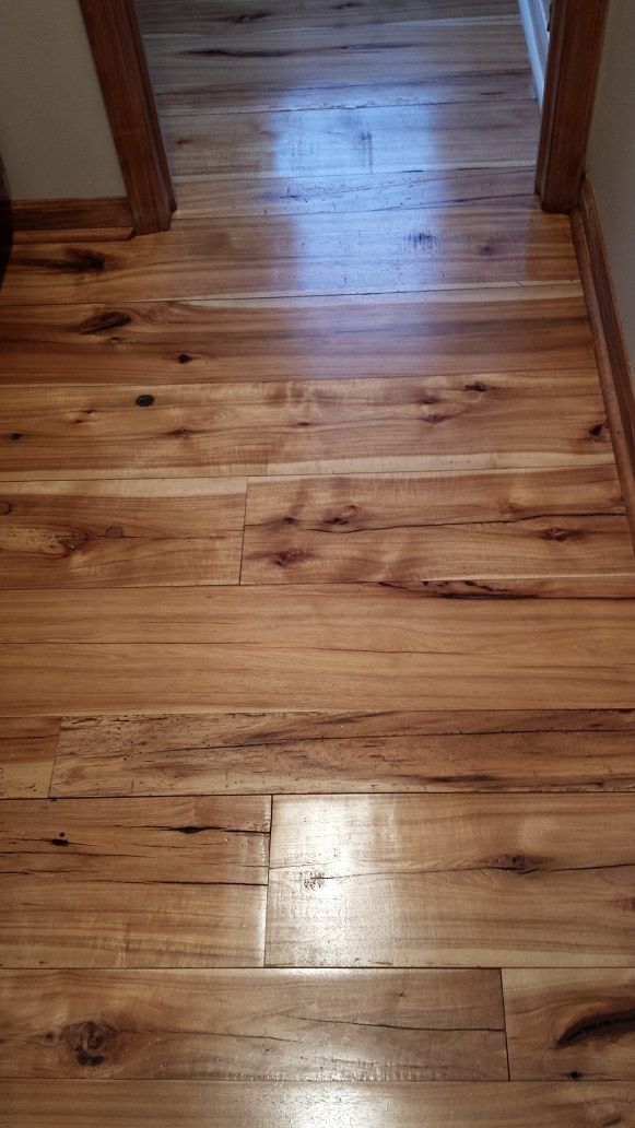 Wide Plank Reclaimed Hickory Flooring Hickory Woodfloors