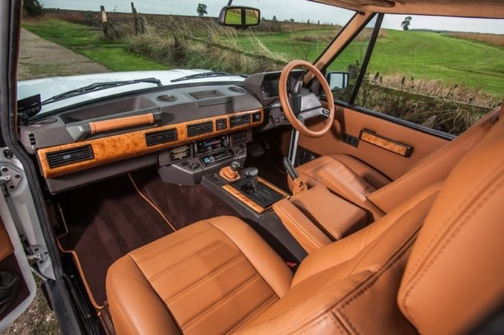 Range rover interior idea: custom leather seats and accents
