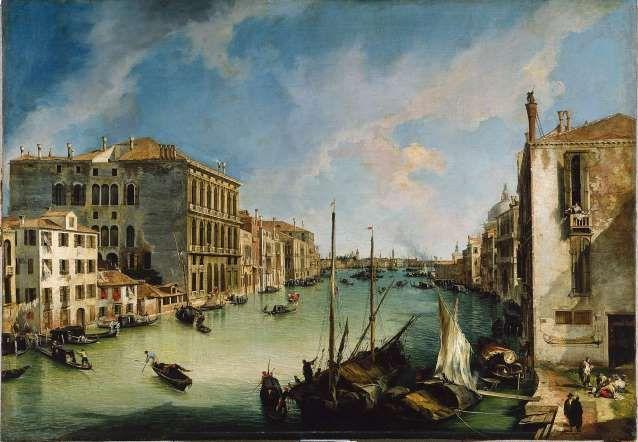 El Gran Canal desde San Vio de Canaletto en el Museo Tyssen-Bornemisza de Madrid.