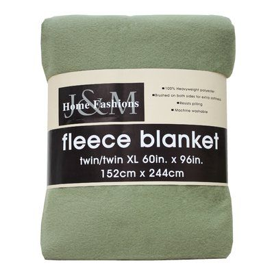 J&M Home Fashions Polar Fleece Blanket Size: Twin/Twin XL, Color: Oil Green
