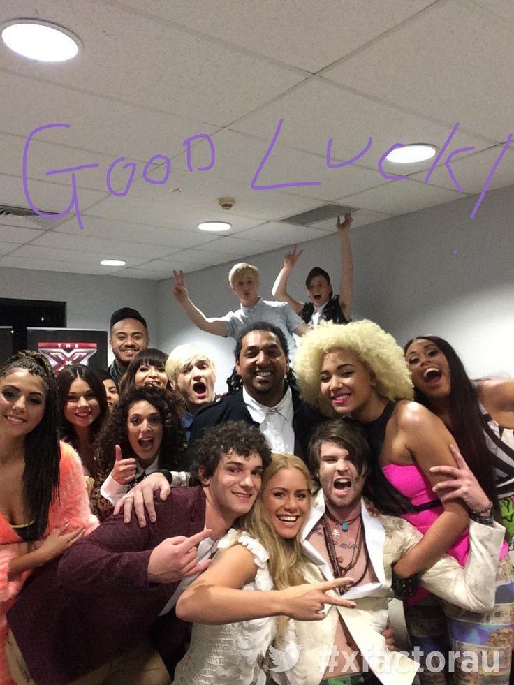 Xfactor Australia contestants backstage