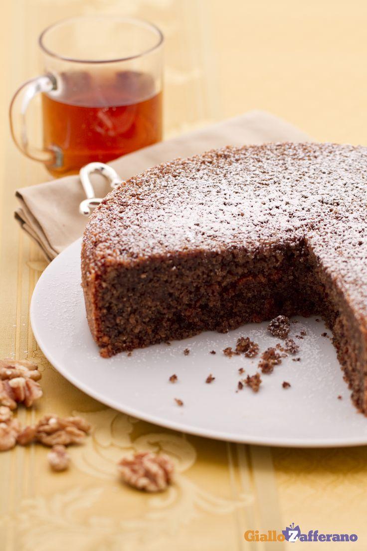 La TORTA DI NOCI (walnut cake) è perfetta per un classico pomeriggio da #thè e dolcetto ;) #ricetta #GialloZafferano #italianfood #italianrecipe
