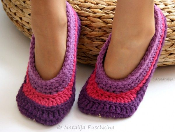 25 best Gehäkelte Socken images on Pinterest | Hausschuhe ...