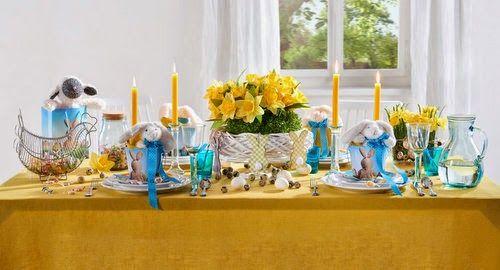 Húsvéti asztaldekoráció