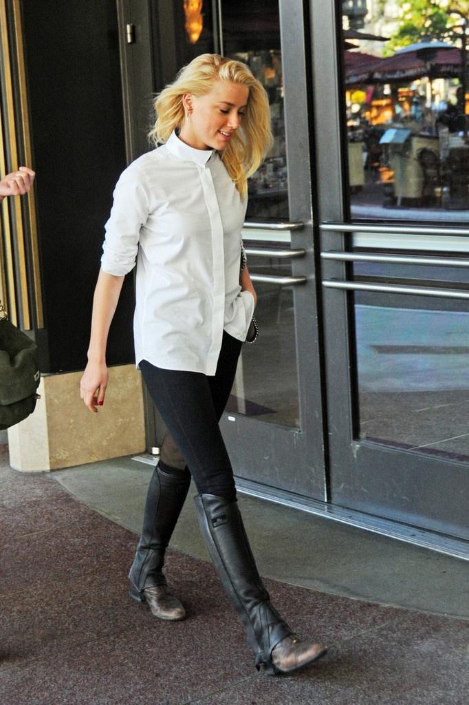 Amber Heard in equestrian wear.