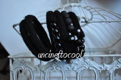 bracciale nero by uncinettocool