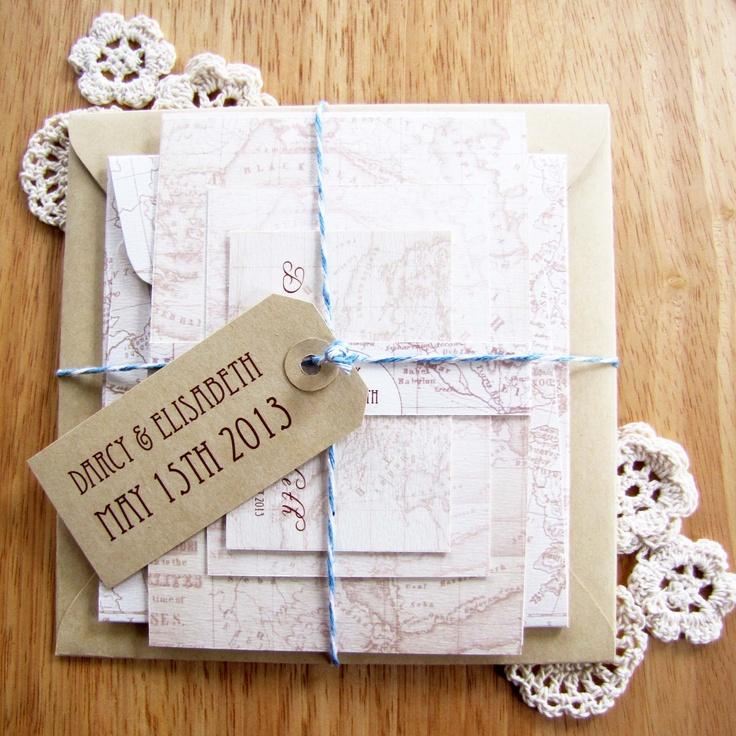 Sutherland Design's Vintage Map Themed Wedding Package