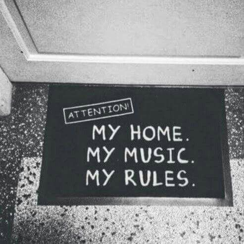 Attention My Home, My Music, My rules door welcome mats drummers drumming drum kits sets drum sticks | Need this rug