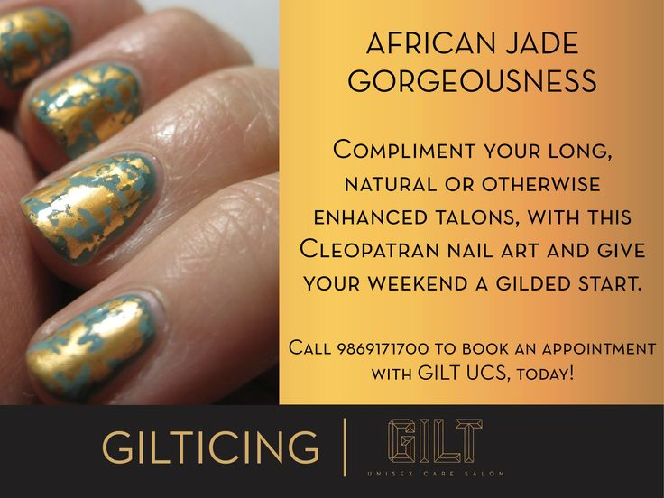#GILT #Salon #GILTICING #African #Jade #Foil #Nailart #Pretty #Cleopatran #nails #NailWeekSpecial #nailsoftheday #notd