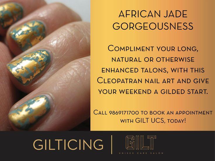 #GILT #Salon #GILTICING #African #Jade #Foil #Nailart #Pretty #Cleopatran #nails #NailWeekSpecial #nailsoftheday #notd