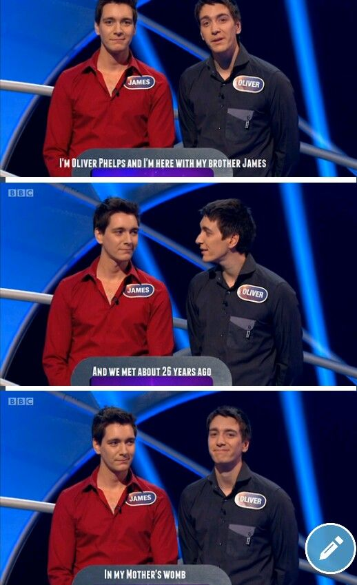 James and Oliver Phelps // Funny