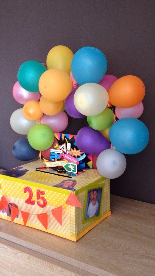 Urne anniversaire personnalisée https//websta.me/n/cyn_hb. Boîte Anniversaire18  AnsBonbonsCartonnageLoisirs