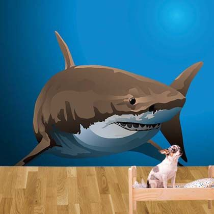 Its a shark Nopea wall mural from Customized Walls Home Decor