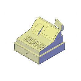 Cash till 3D AutoCAD model