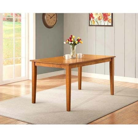 better homes and gardens bankston dining table honey 2