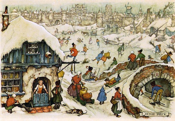Ice Skating - Anton Pieck