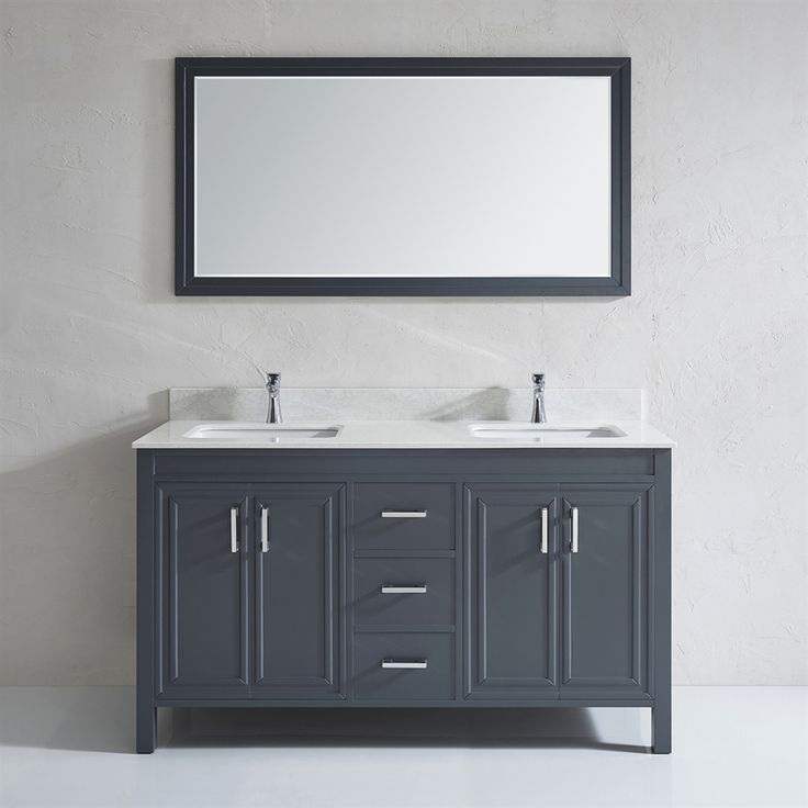 spa bathe cora french gray undermount double sink bathroom vanity with engineered stone top common - Bathroom Remodel Double Sink