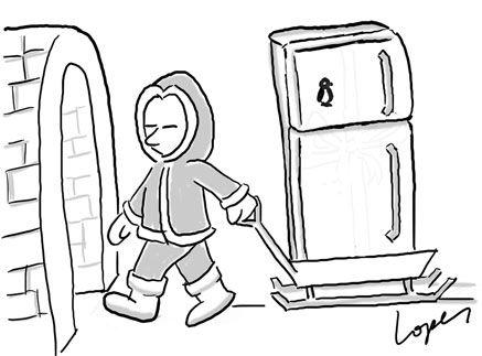 How Do Eskimos Use Refrigerators? http://tipsycat.com/2016/02/eskimos-use-refrigerators/