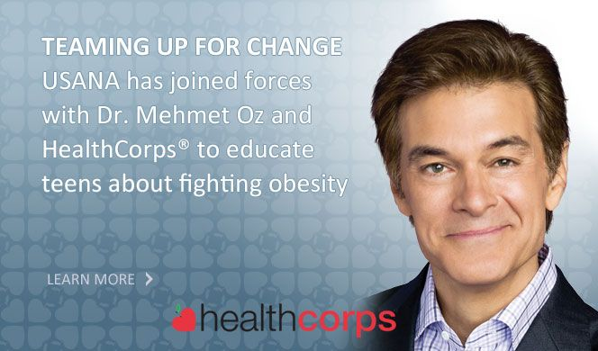 Dr. Mehmet Oz.  He's awesome.  What can I say? I'm thrilled about his partnership with USANA. Oh! and  his wife Lisa is a vegetarian. Woot! Woot!