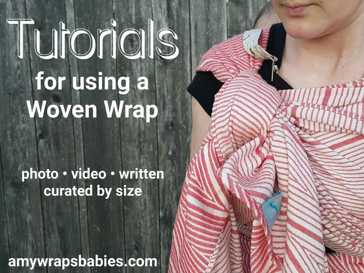 Complete list of Tutorials for woven wrap babywearing (woven sling baby carrier carry in cloth) how to tie use a wrap