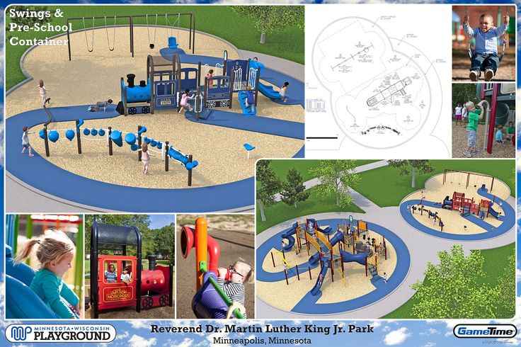 Playground layout for two different age groups preschool for Kindergarten playground design