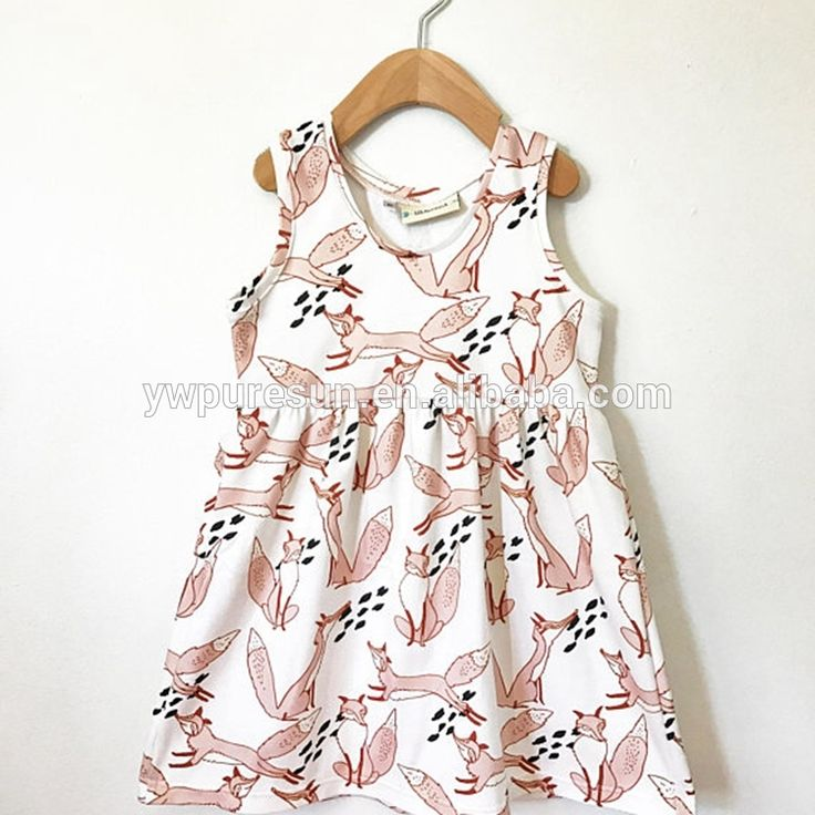 Fox remake frock design cotton boutique girls dresses