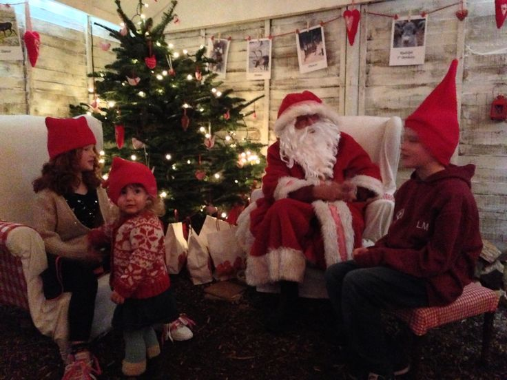 Father Christmas at Trebah Garden, Cornwall