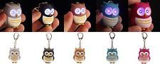Cute Owl Keyring With LED Lights and Hooting Sound - Novelty Cartoon Key Chain