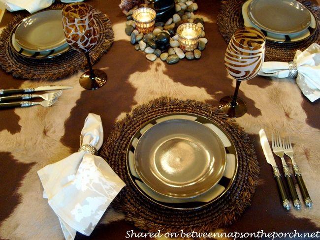 Going On Safari A Themed Table Setting