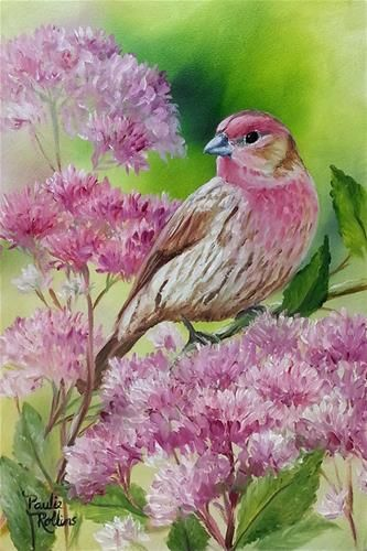 Pink Blossom Bird by Paulie Rollins
