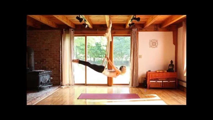 Aerial Yoga - silk hammock - with Karlene Murphy.  I found this flow and am absolutely in love with it!!!!