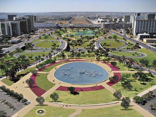 Eixo Monumental, Brasília D.F., Brasil - Roberto Burle Marx