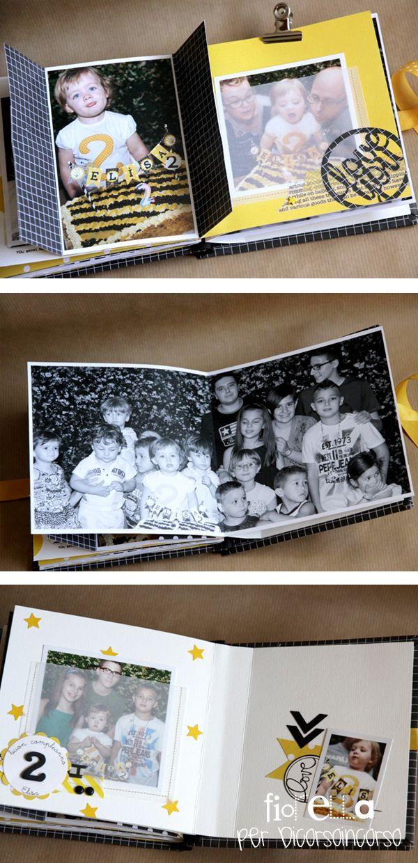 Ciao a tutti… in questo post voglio mostrarvi il minialbum realizzato con le foto scattate durante il compleanno della nostra piccola Elisa, vi ricordate il post del Bee-day party? Stessi co…
