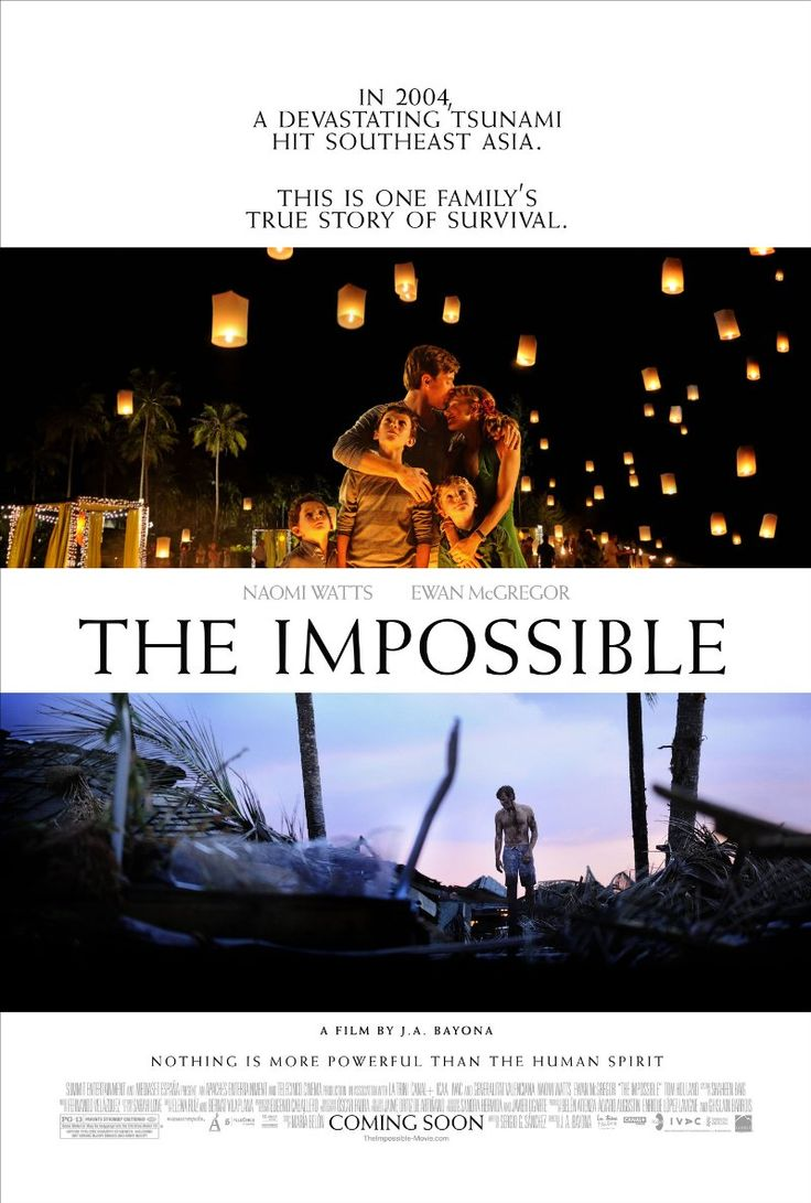 "This movie made me cry about 10 times. So intense and scary that the sappy moments actually worked on me. The impossible, indeed! The Impossible (2012) "" story of a tourist family in Thailand caught in the destruction and chaotic aftermath of the 2004 Indian Ocean tsunami."" #film #movie #tsunami"