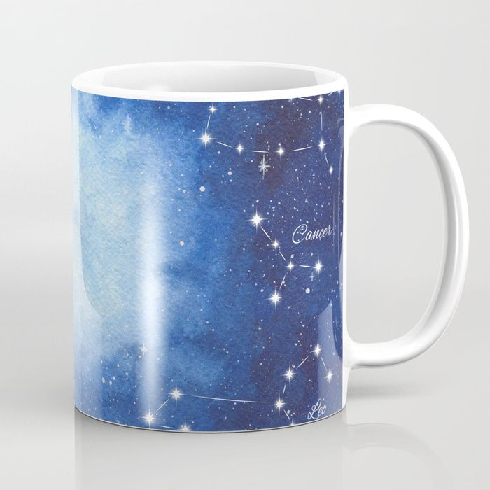 Cosmic Horoscope Coffee Mug #space #zodiac #signs #horoscope #universe #galaxy #nebula #stars #constellations #watercolor #painting #night #buy #buyonline #shopping #giftidea #present #cosmic #cosmos #society6 #mugs #drinkware #cups #kitchen #decor